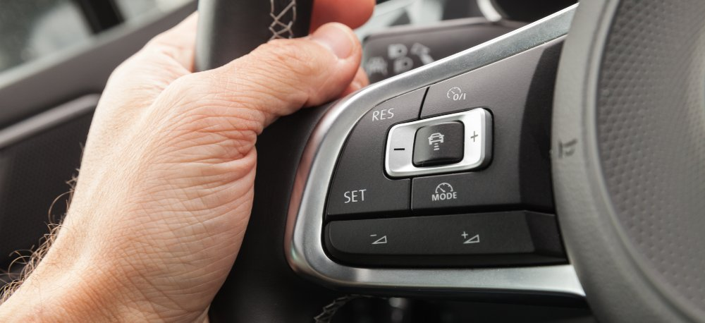 Adaptive Cruise Control on a steering wheel